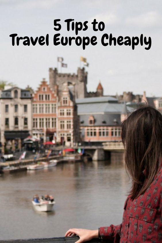 How to Travel Cheap in Europe: 5 Tips to help you save money on your trip through Europe! From lodging to food to transportation, here's how you can travel Europe on a budget.