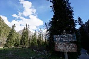 Ala Archa National Park sign