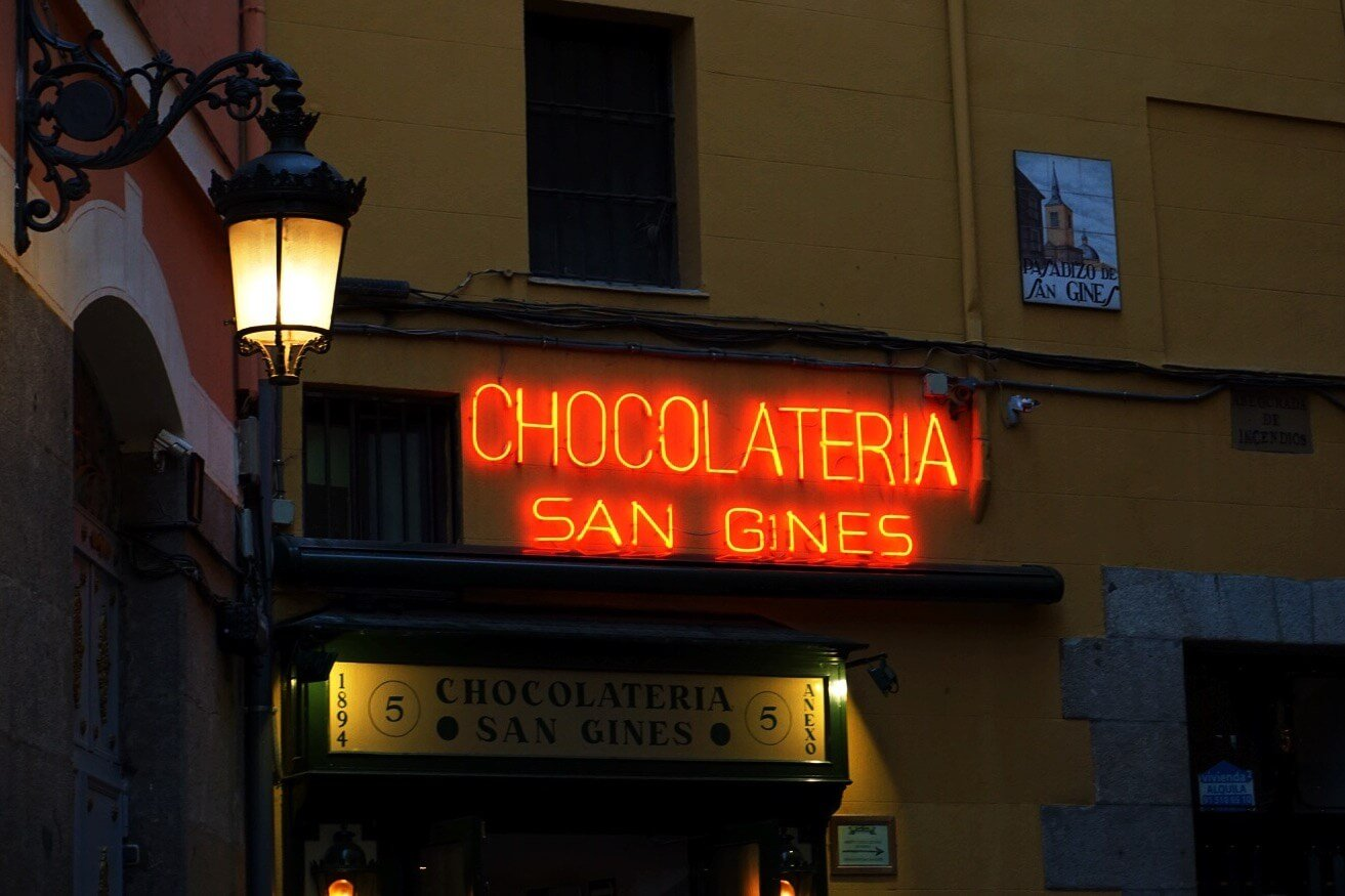 Madrid Photography of Chocolatería San Ginés