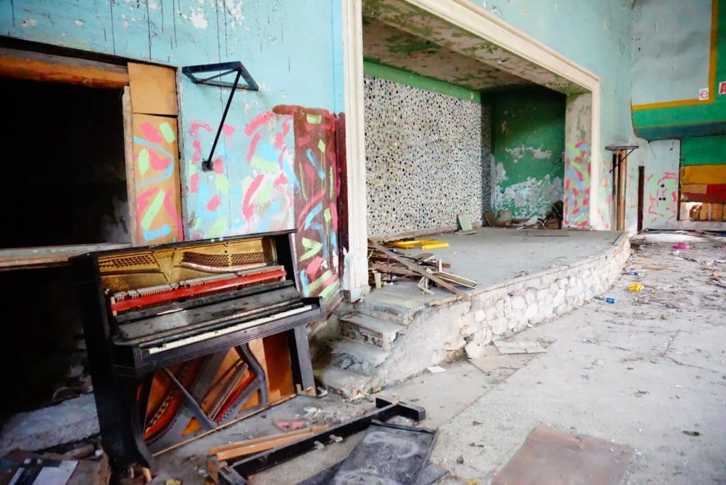 An abandoned piano in Gagra Abkhazia