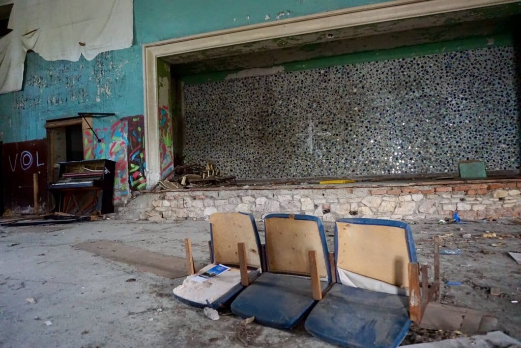 An abandoned theatre in Gagra