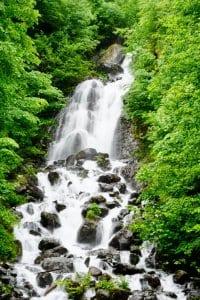 A waterfall near Lake Ritsa