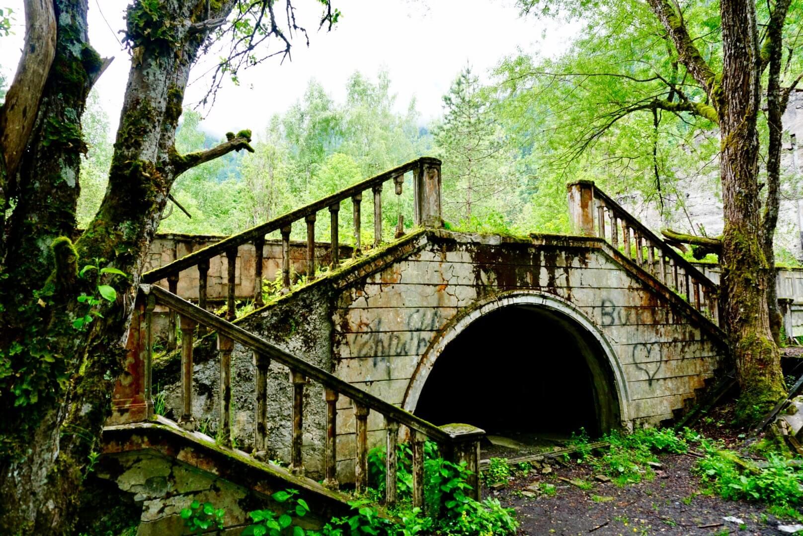 An abandoned palace near Lake Ritsa Abkhazia