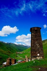 A watchtower in Svaneti Georgia