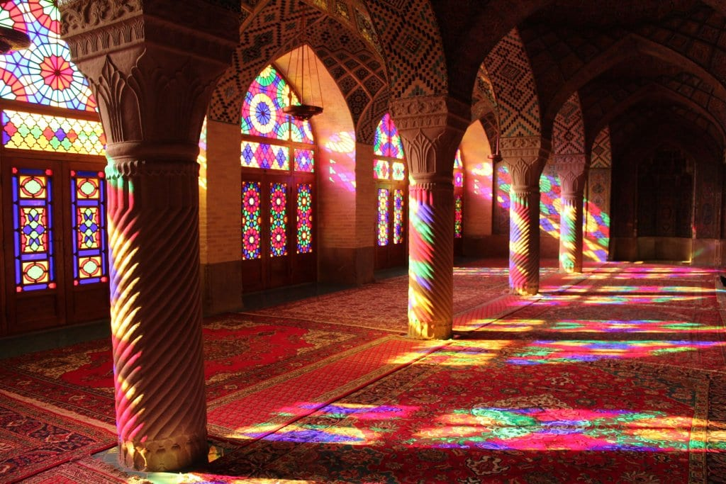 The Pink Mosque, a key site to visit when you travel to Iran