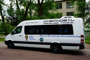 Chernobyl tours review: the bus