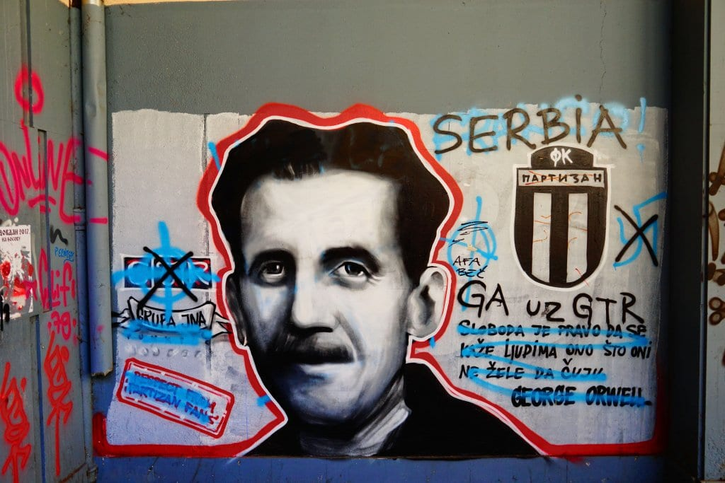 Belgrade Street Art: Serbian football art