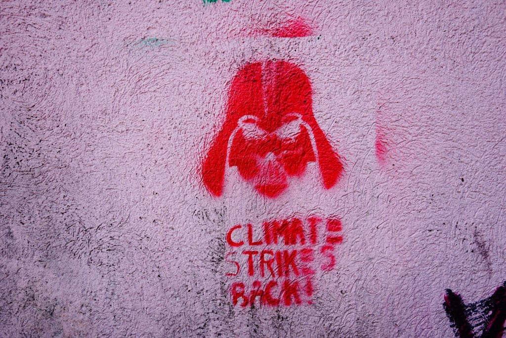 Belgrade Street Art: Climate Strikes Back