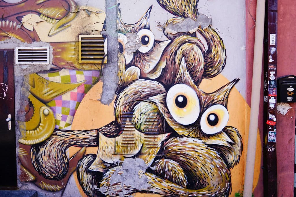 Belgrade Street Art: animals