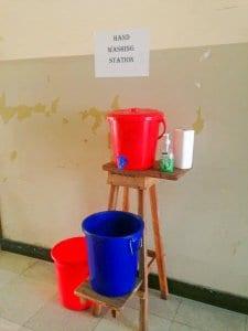 Fighting Ebola: Chlorine Handwashing Station