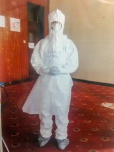 Fighting Ebola in Sierra Leone - protective equipment