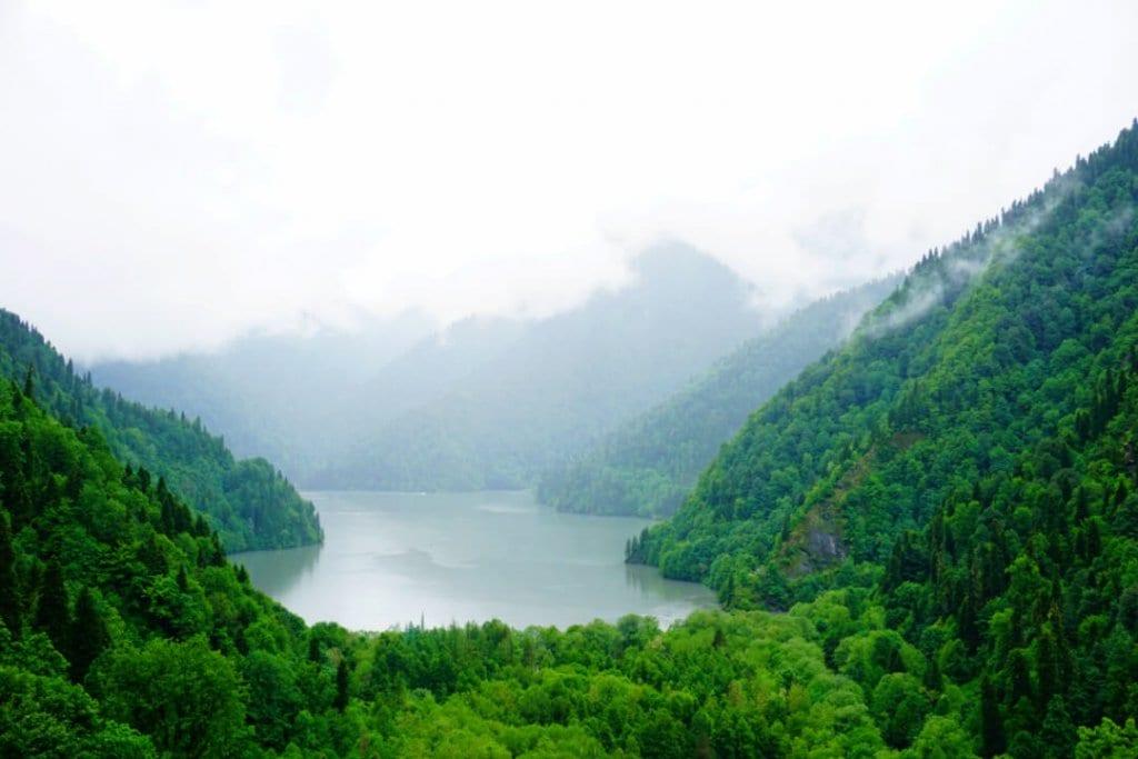 Places to visit in Georgia Europe Lake Ritsa