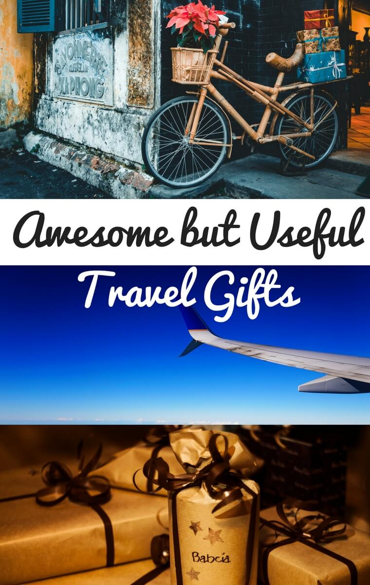 Awesome travel gifts for someone going abroad: from the practical to the fun, these are great gift ideas for anyone who loves to travel overseas!