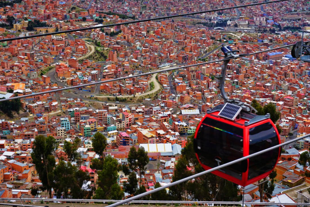 Top Places to Visit in South America : La Paz Bolivia Cable Car