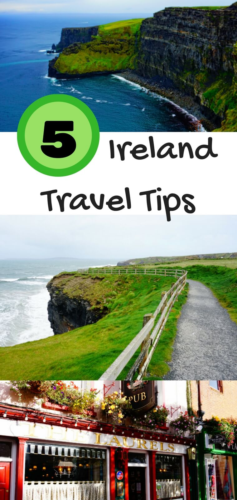 Ireland is an incredible country. If you are looking to travel to Ireland, don't miss these 5 Ireland travel tips that will help you see and do the best things in Ireland. #Ireland