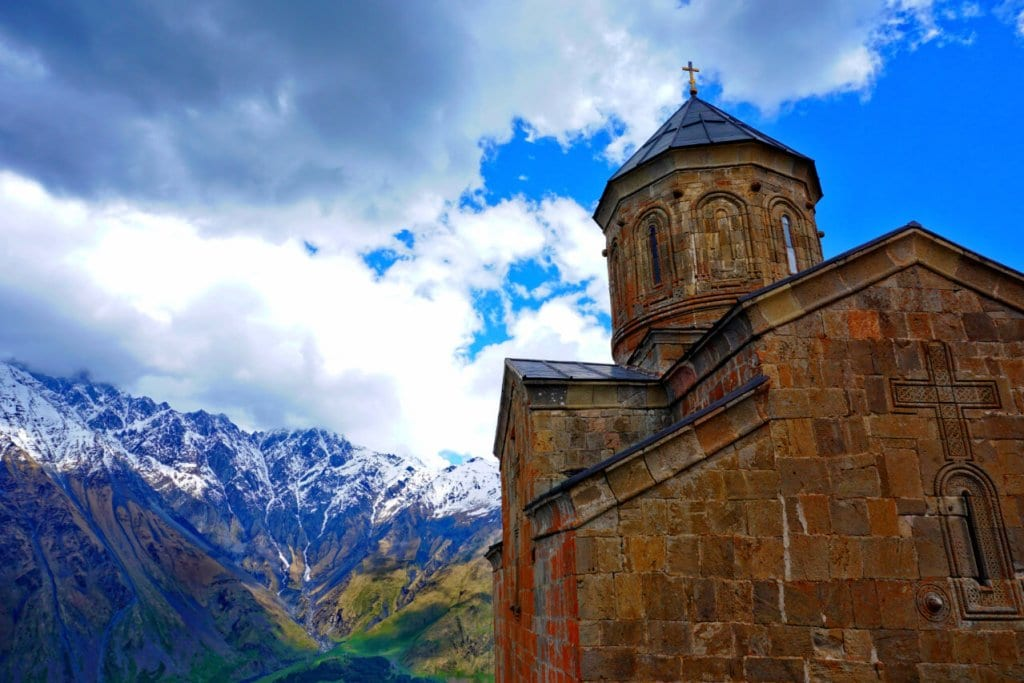 The Trinity Church in Kazbegi, Georgia Europe
