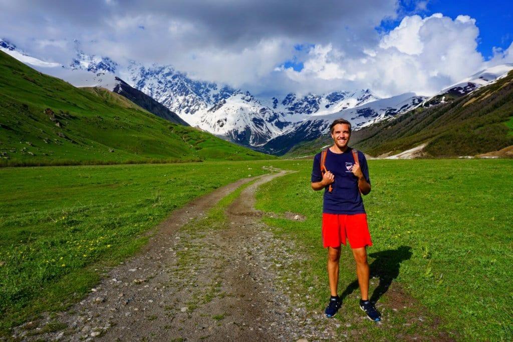 Me before hiking in Ushguli Georgia