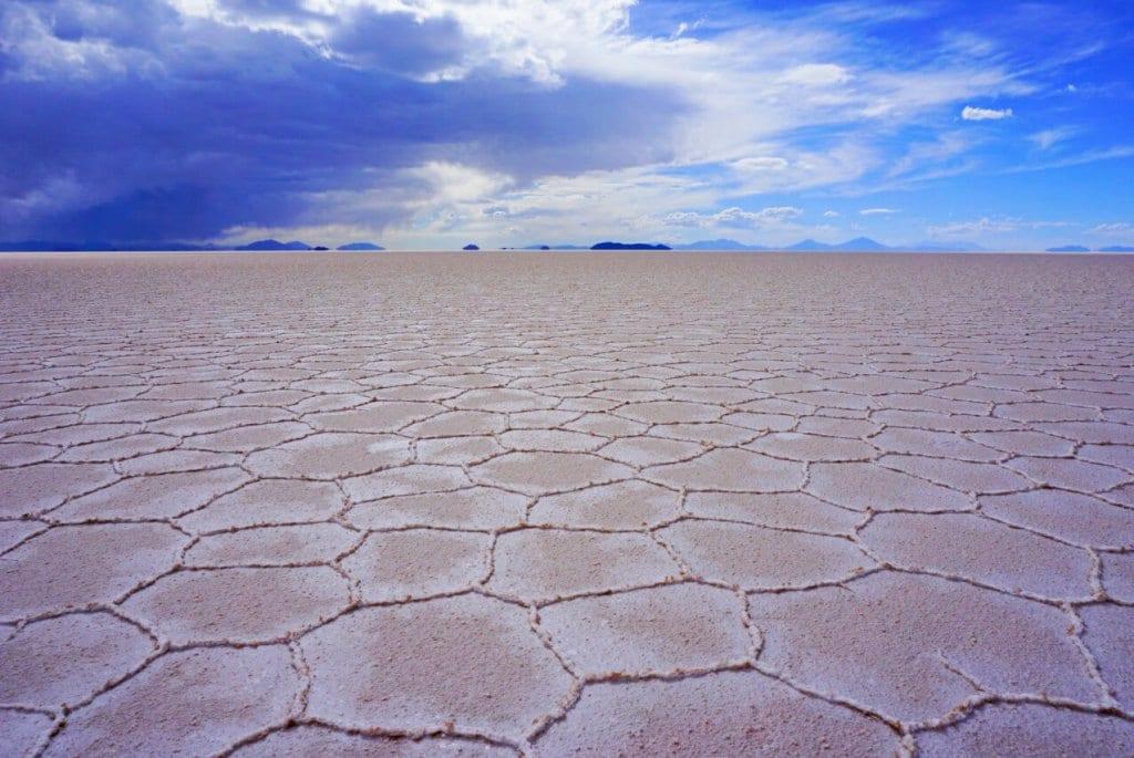 Hexagons on Bolivia's Salt Flats
