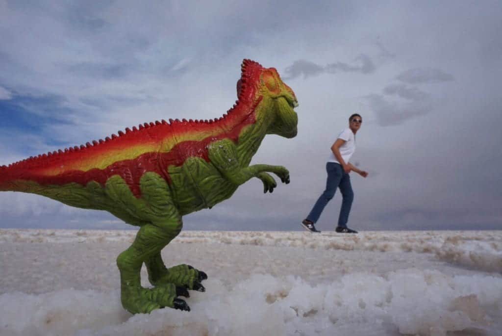 Dinosaurs on Bolivian salt flats tours