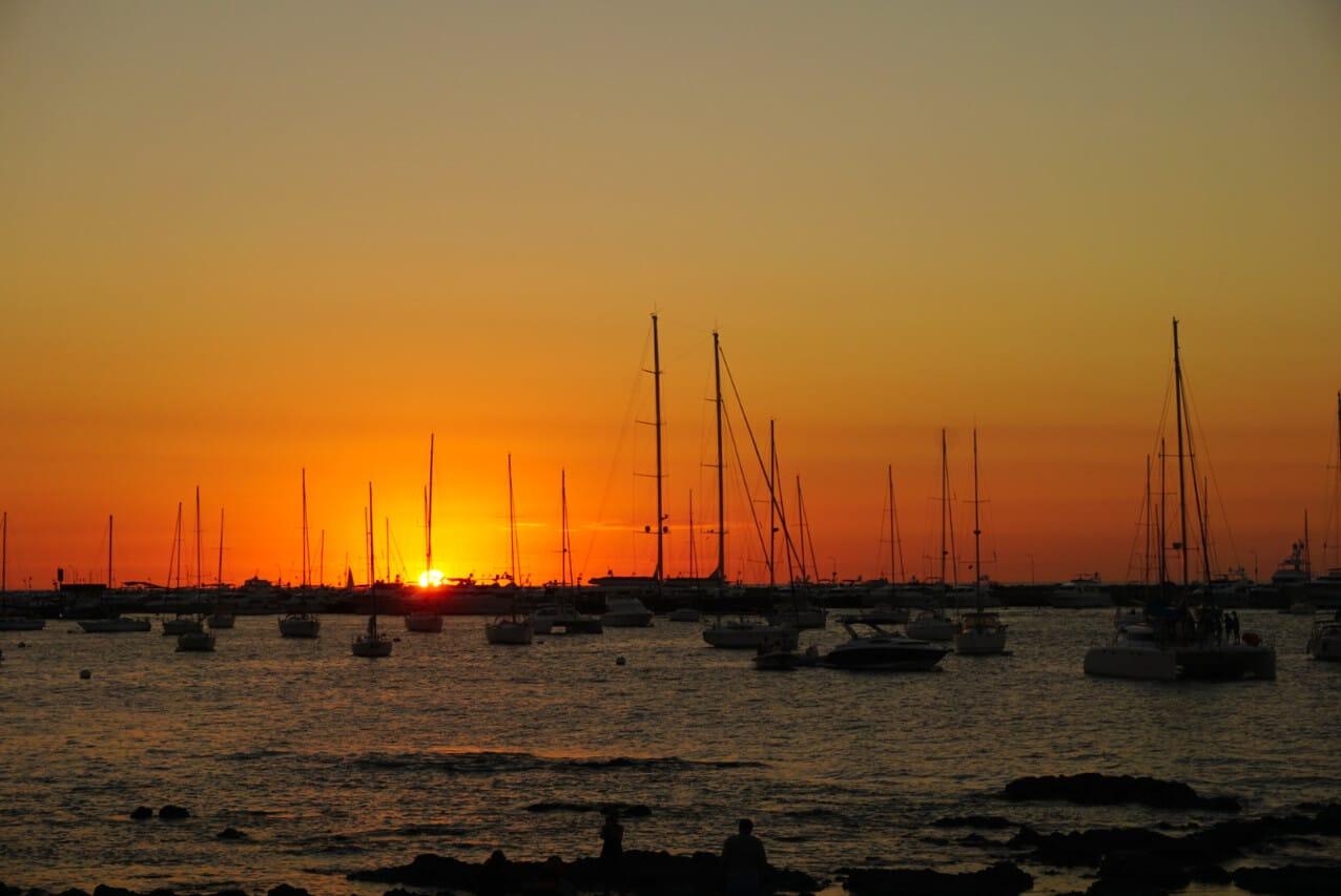Sunset in Punta del Este Uruguay