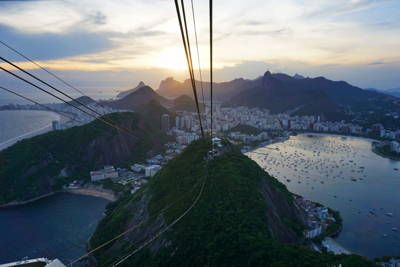 The view from Sugarloaf Mountain, Rio