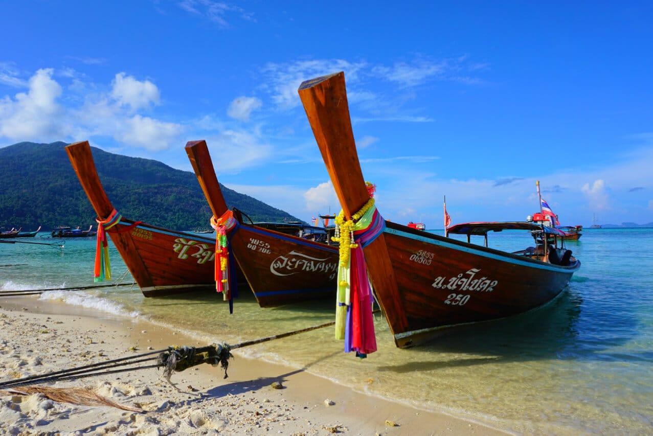 Longboats on Ko Lipe