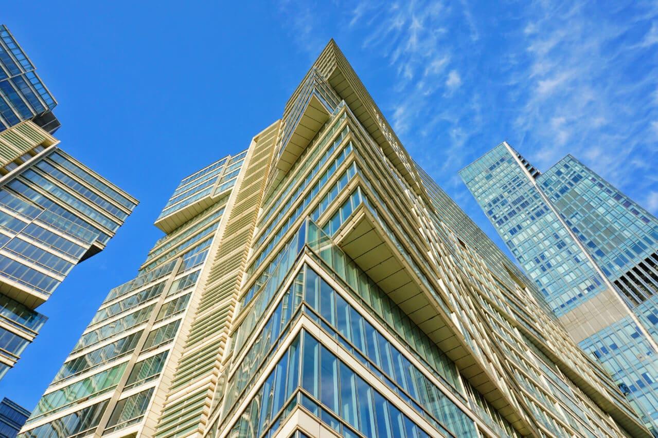 Modern buildings in Almaty