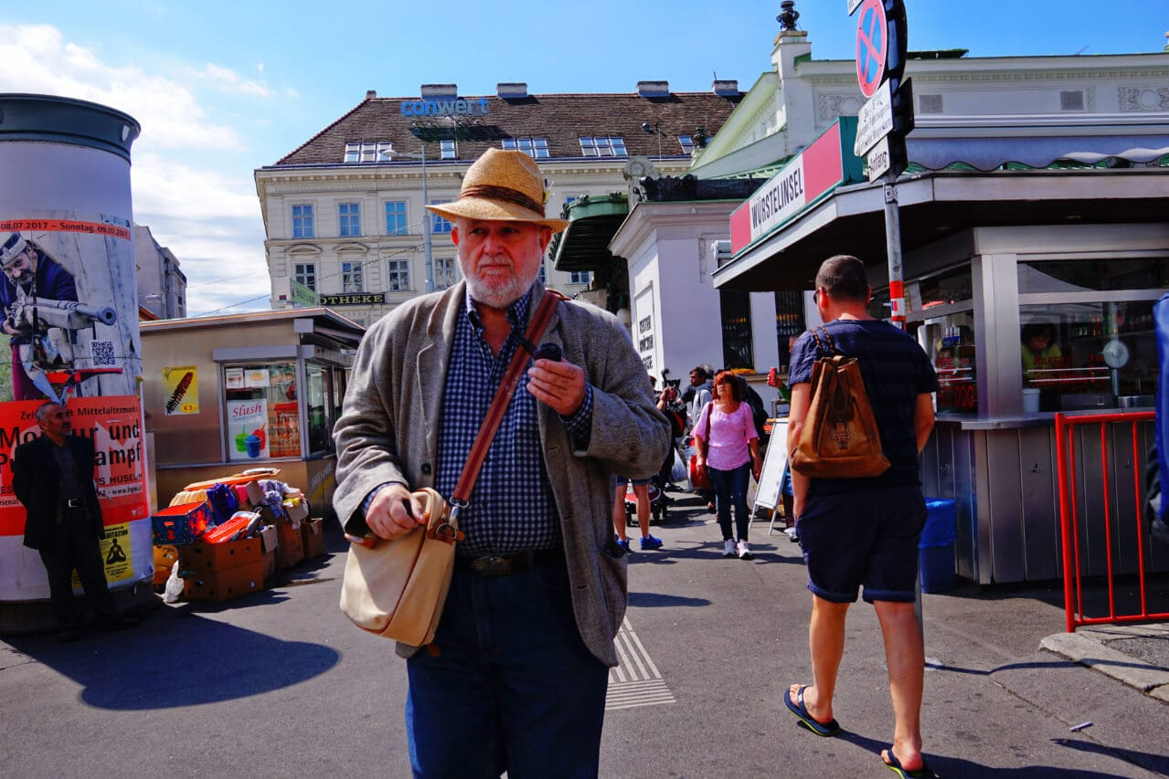 A man on the street in Vienna
