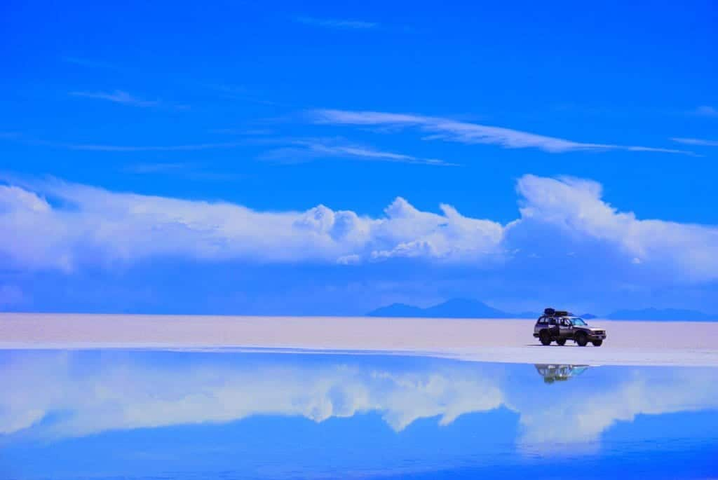Reflection on the Uyuni Salt Flats