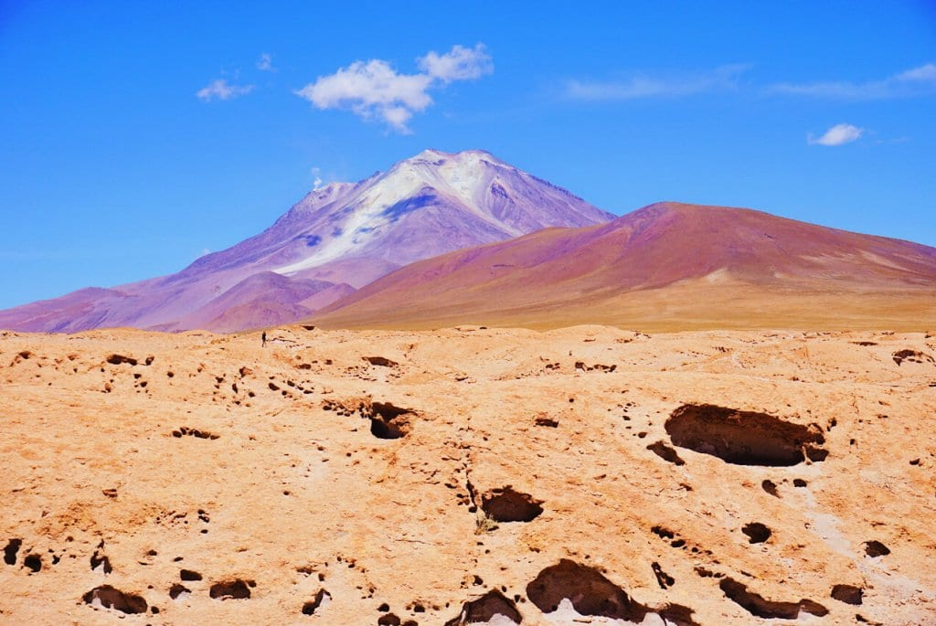 Colorful Andean peaks in the Bolivian desert