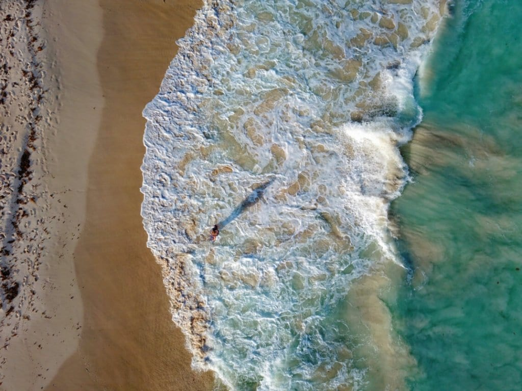 Tulum's beaches from above