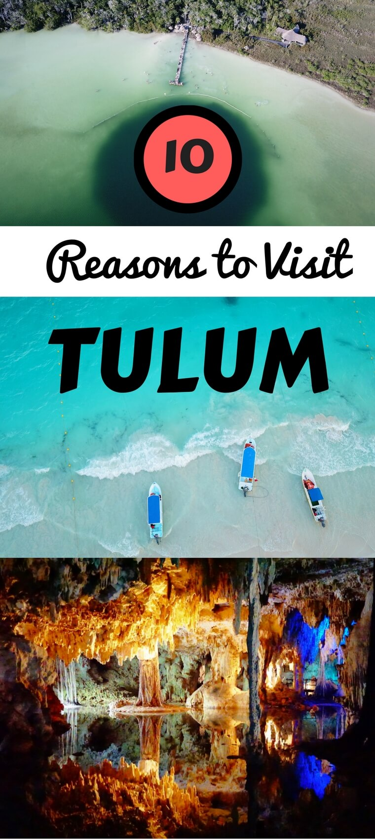 10 magical reasons to travel to Tulum, Mexico. From cenotes to beaches to Mayan ruins, Tulum has it all. #Tulum #Mexico