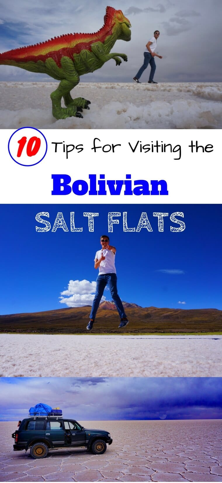 Bolivia's salt flats make for one of the world's most epic roadtrips. Make the most out of your trip through the Salar de Uyuni with these 10 simple but critical tips. #bolivia #travel #uyuni