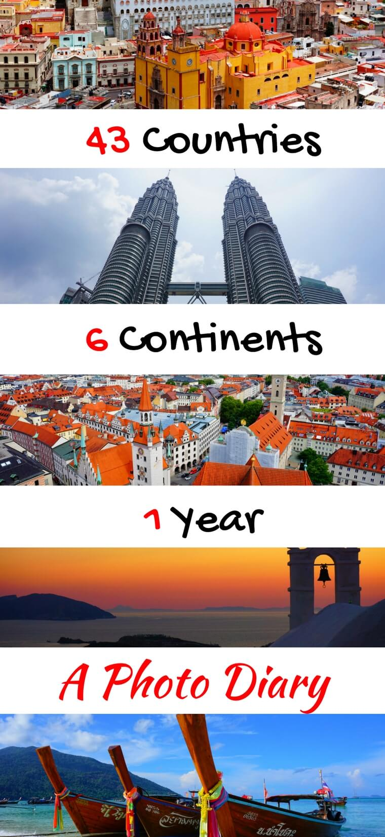 My favorite #travelphotos from one year spent traveling around the world. 43 countries, 6 continents, 1 year, and lots of amazing photos. #travel #travelpics