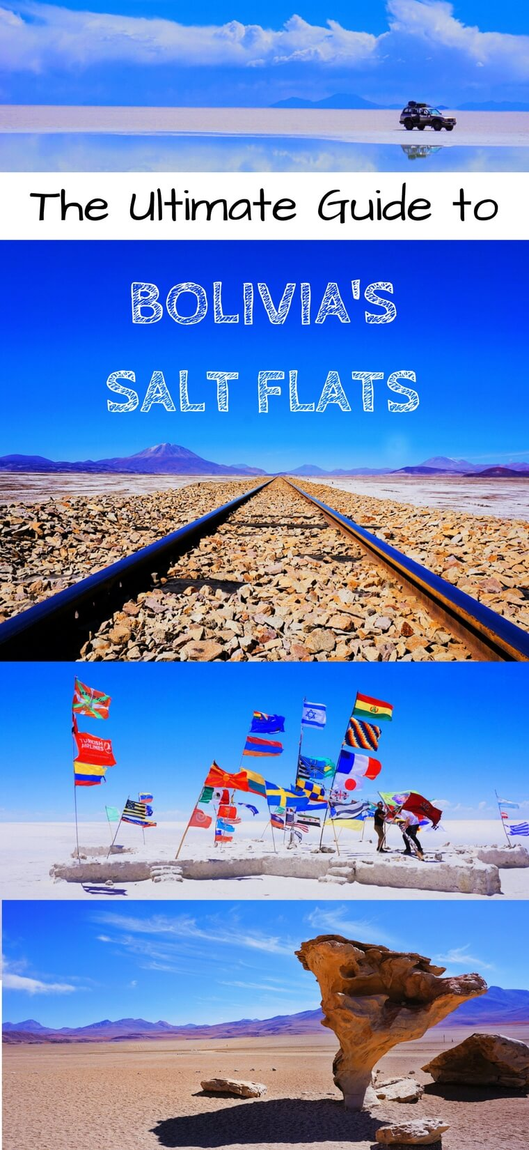 Add the salt flats of Bolivia to your travel bucket list immediately. In this complete guide, we cover everything you need to know to have a trip of a lifetime through the Salar de Uyuni in beautiful Bolivia. #travel #bolivia #bucketlist