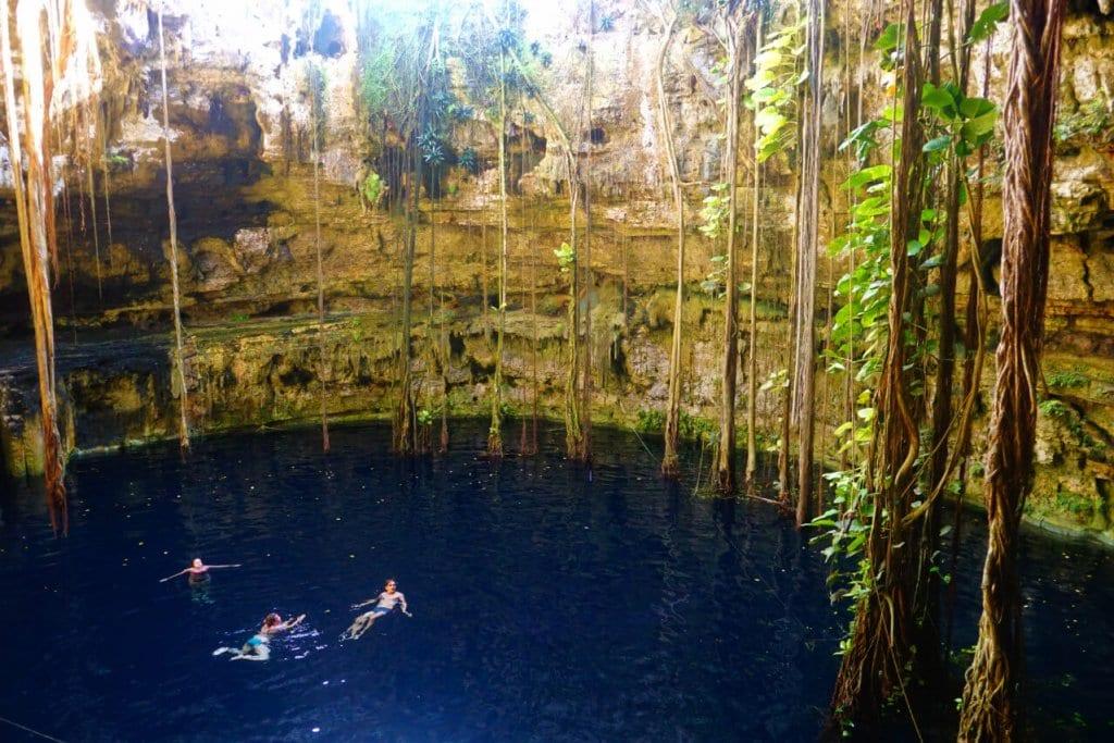 A cenote near Tulum Mexico