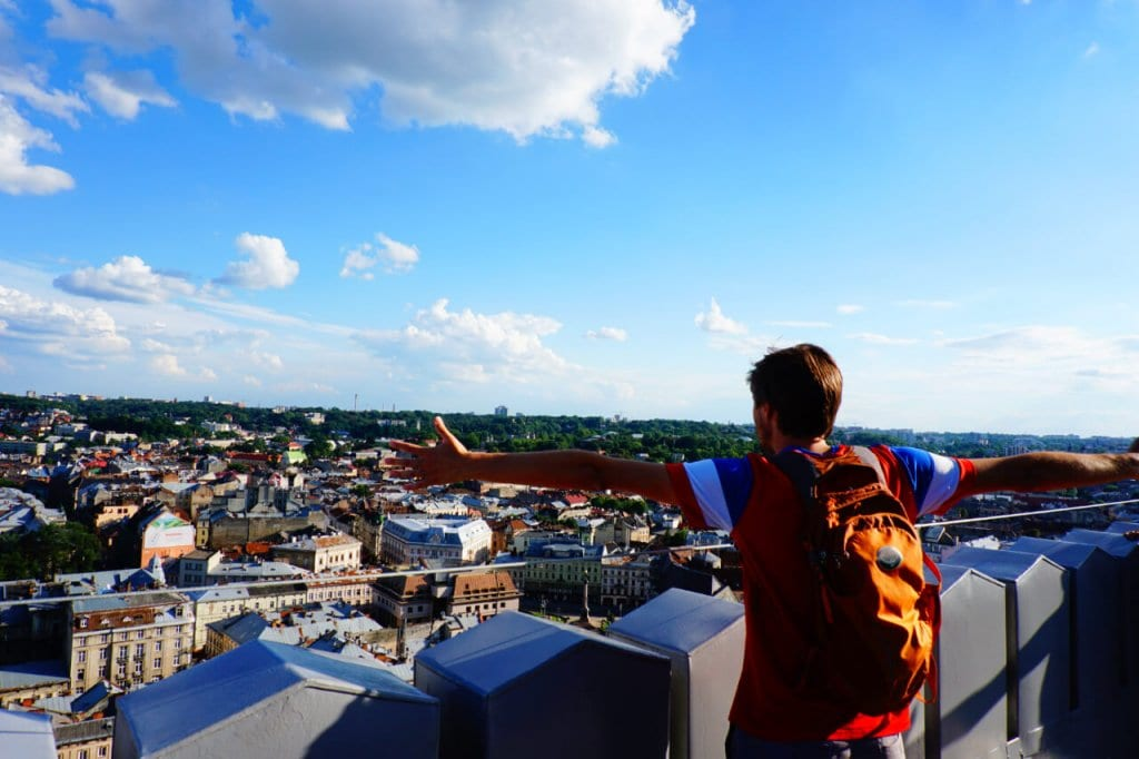 Best Time to Go to Europe: Looking out over Lviv