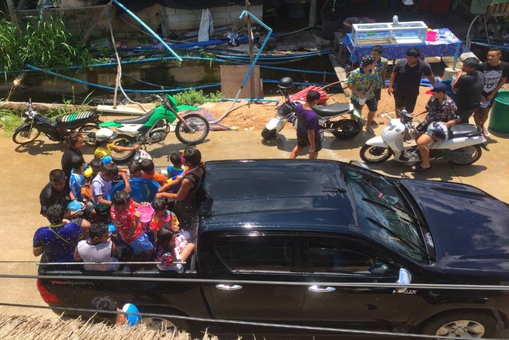 Solo Travel Thailand: Waterfight on Songkran