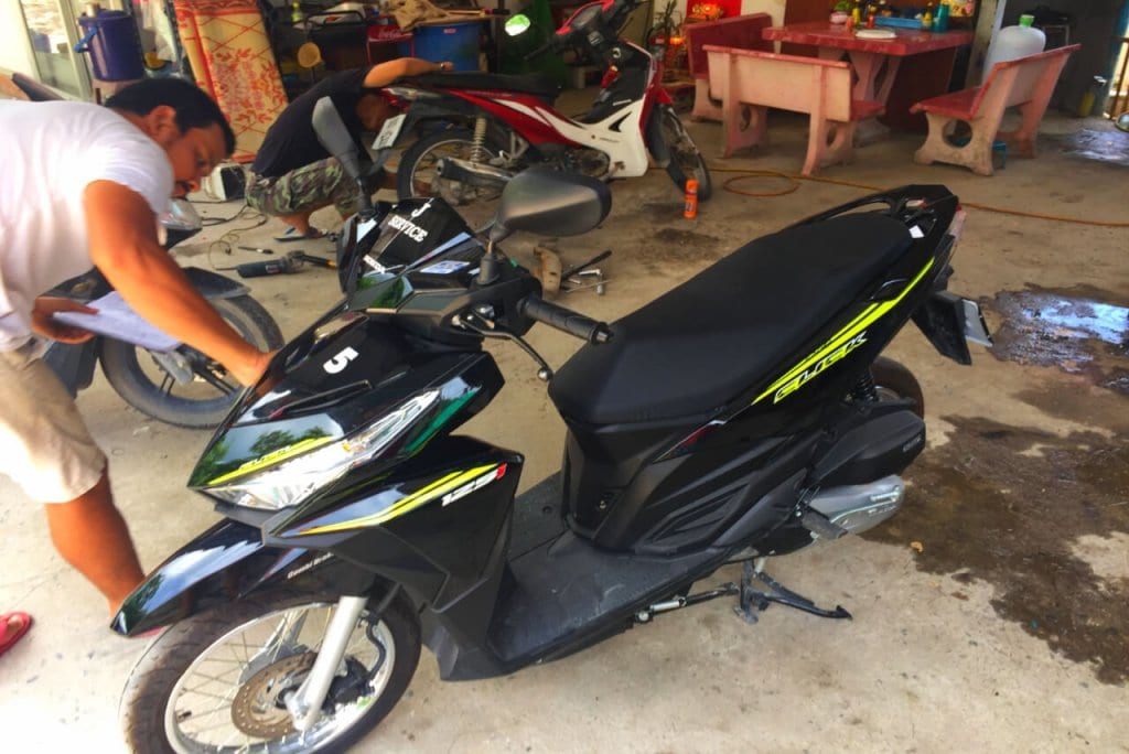A bike that one might rent while traveling solo in Thailand