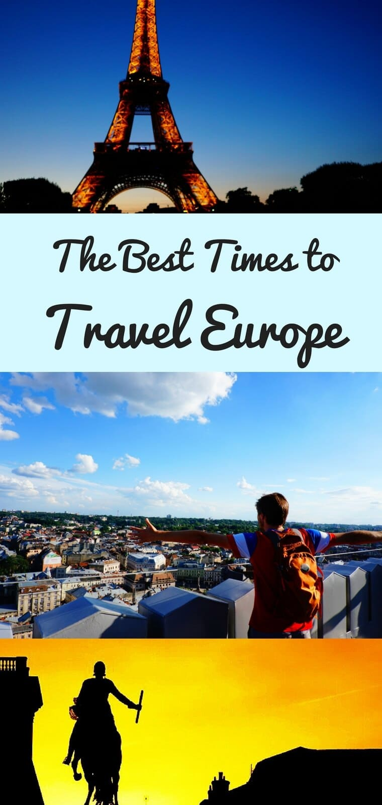 Looking to figure out when to travel Europe? These questions will help you determine your best time to travel to Europe, plus I'll give you links to resources to help you plan your perfect Europe trip at the right time of year. #Europe #EuroTrip