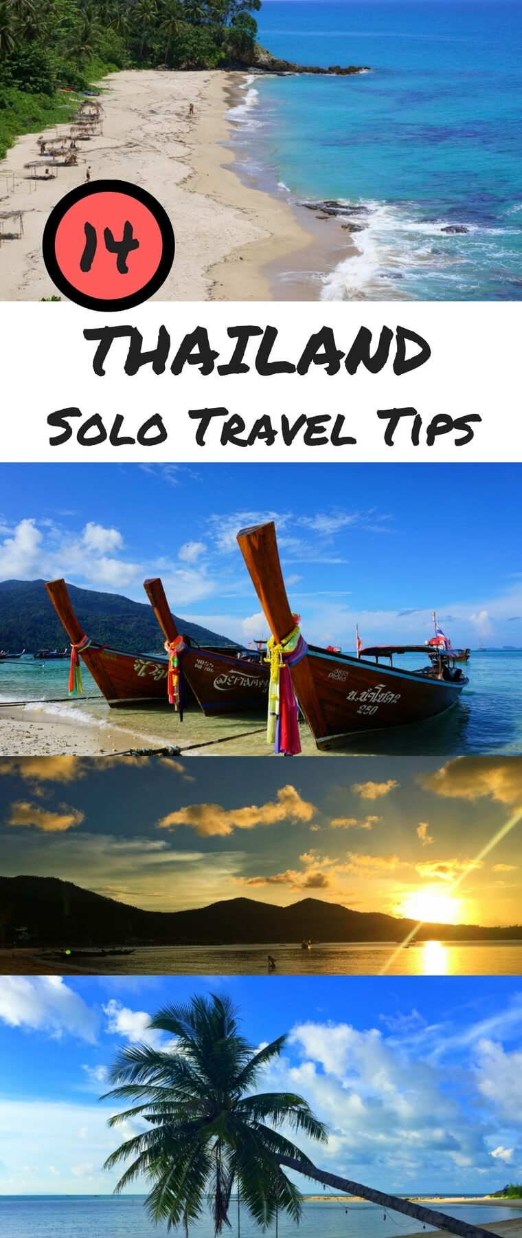 Thailand is a great place for solo travel. These 14 tips will help you to make the most out of your solo trip to Thailand. #thailand #travel #solotravel