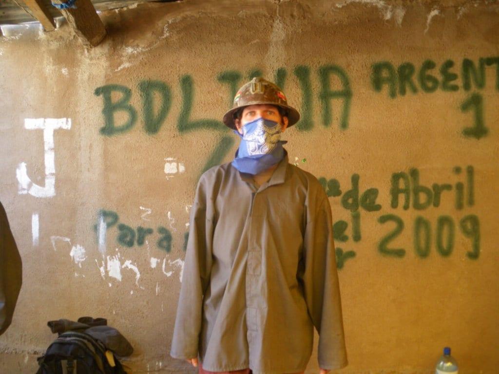 A miner in Potosi, Bolivia