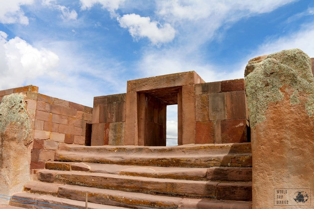 The pyramids at Tiwanaku Bolivia: one of the amazing things to do in Bolivia