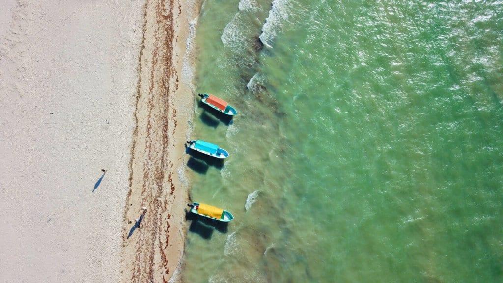 Boats on Celestun Beach