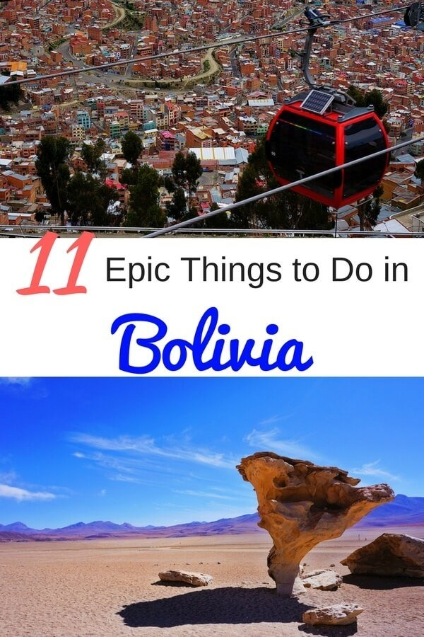 9 Epic Things to do in Bolivia. From swimming with pink river dolphins to blowing up a stick of dynamite, you won't want to miss these 9 incredible and unique experiences to have in Bolivia. #boliviatravel #bolivia