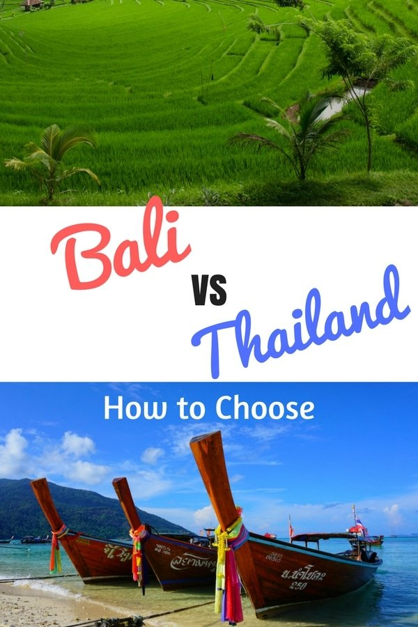 Bali vs Thailand: How do you choose which of these great Southeast Asia destinations is best for you? Check out this quick guide to picking. #bali #thailand #southeastasia