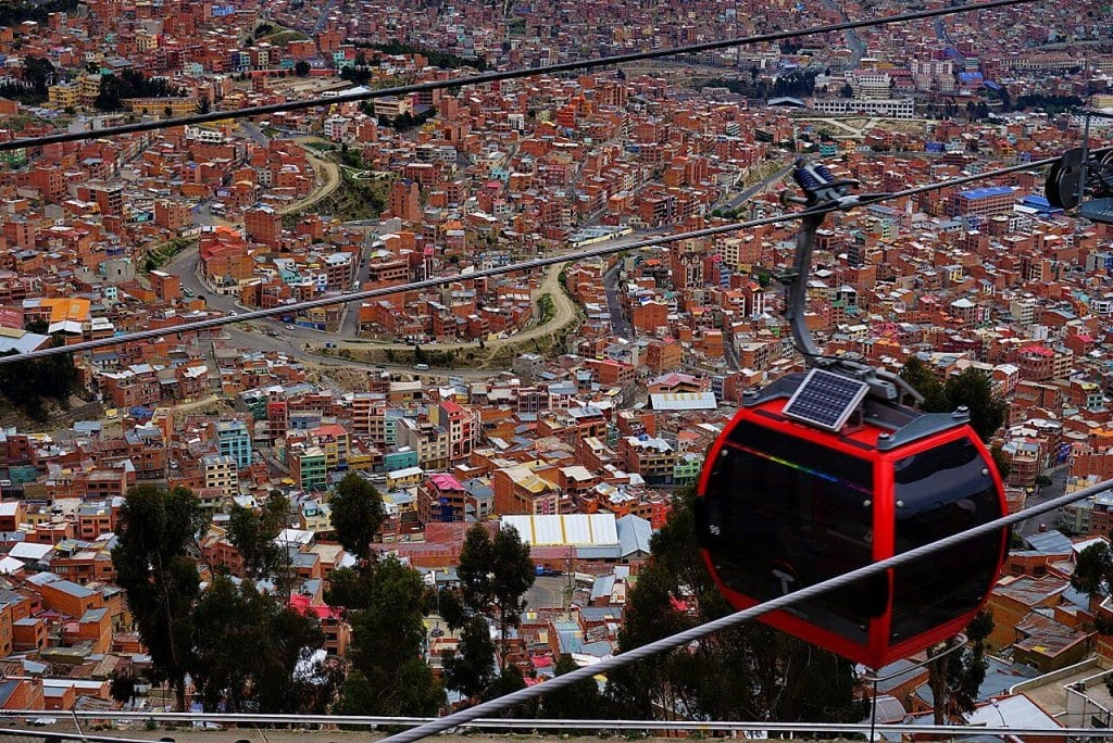 Things to do in Bolivia La Paz Cable Car