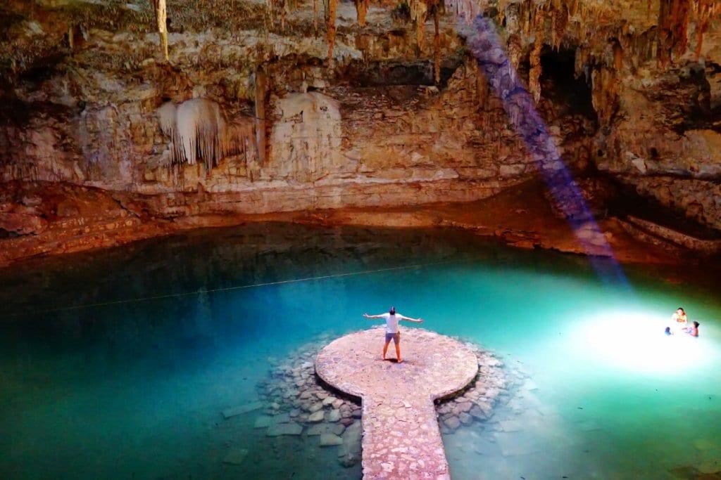Cenote Suytun near Valladolid Mexico