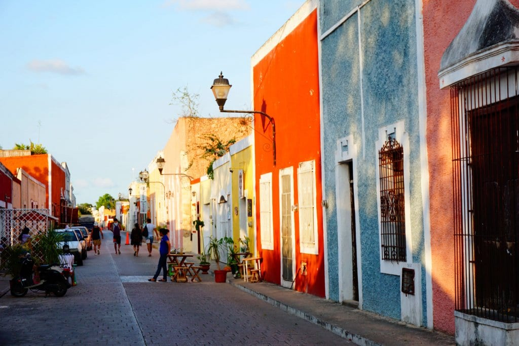 A street in Valladolid Mexico