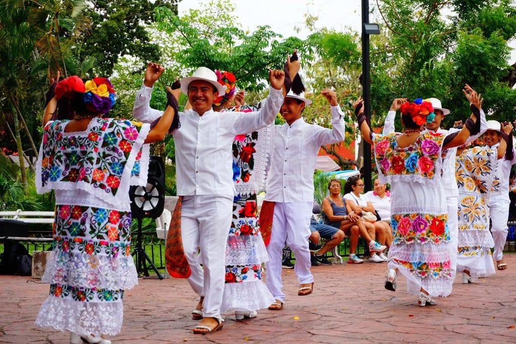 Dancing the Jarana in Valladolid Mexico